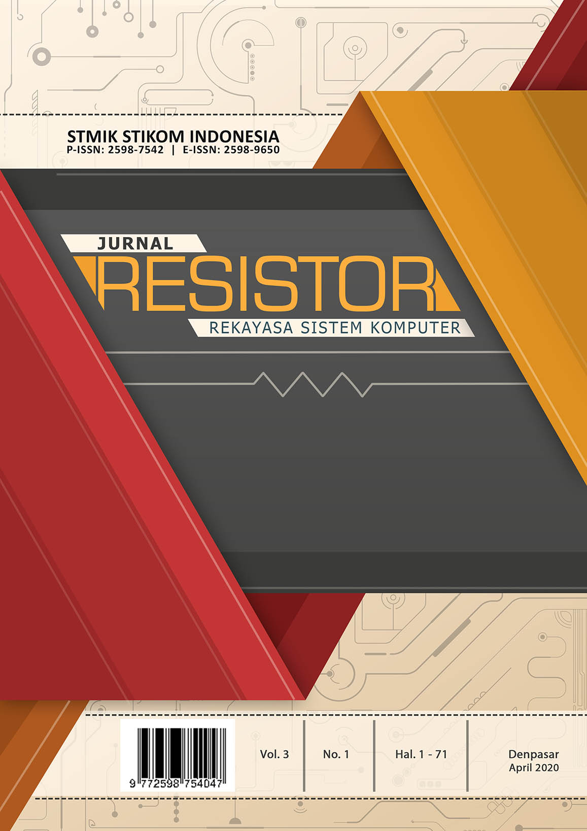 View Vol. 3 No. 1 (2020): Jurnal RESISTOR Edisi April 2020