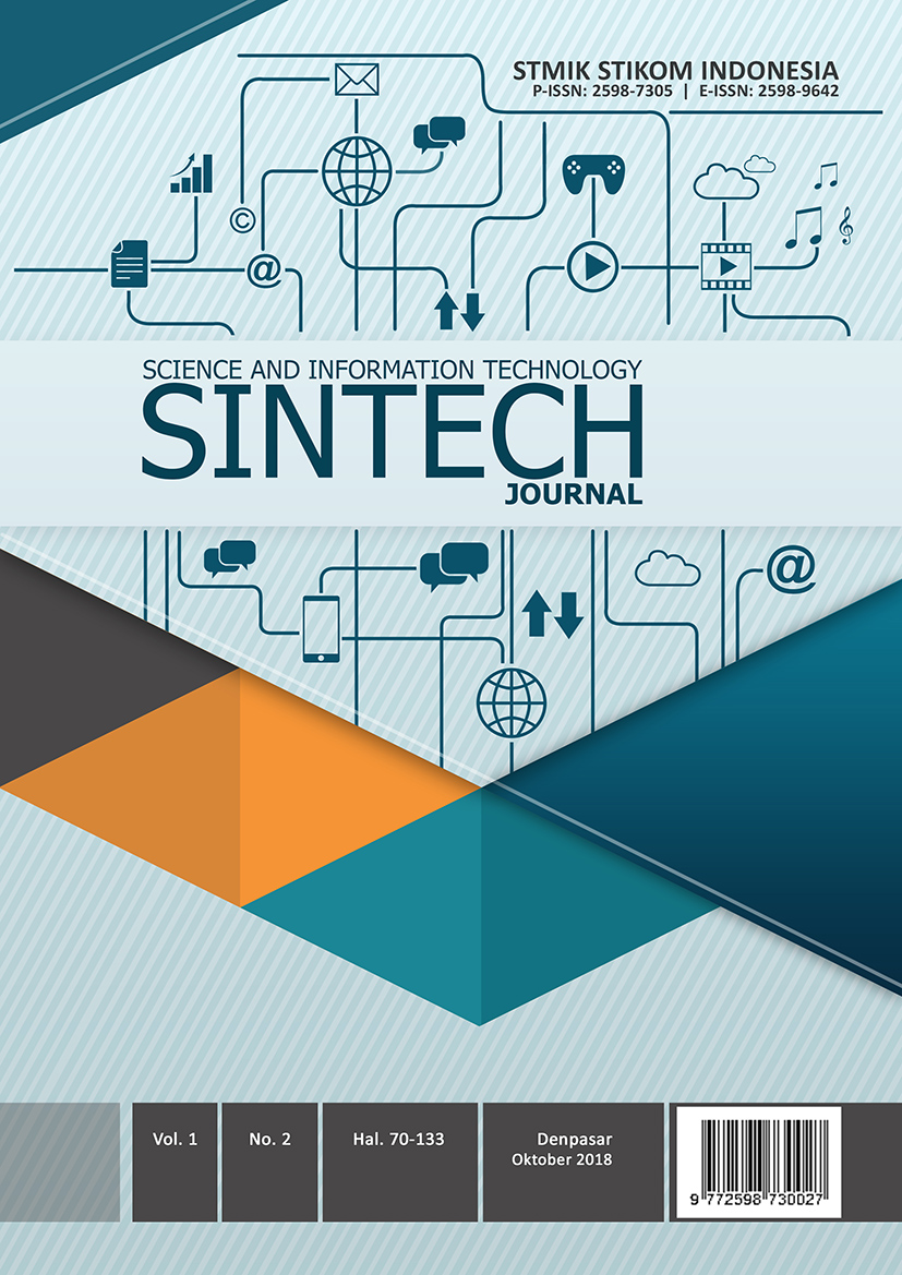 SINTECH Journal Edition Oktober 2018